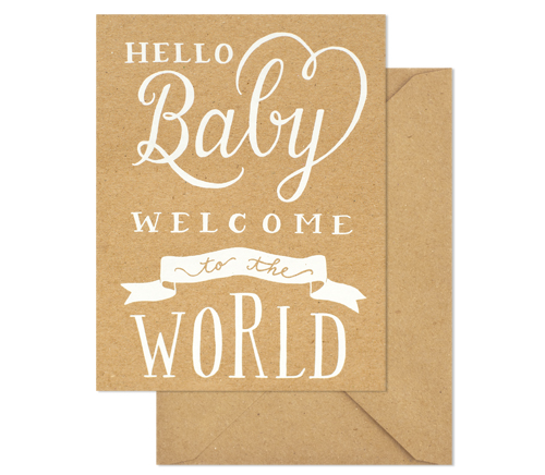 Productimage-picture-welcome-to-the-world-kraft-card-1243